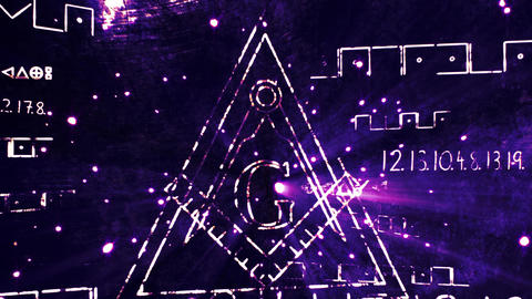 4K The Free Masonic Grand Lodge Sign v1 4 Animation