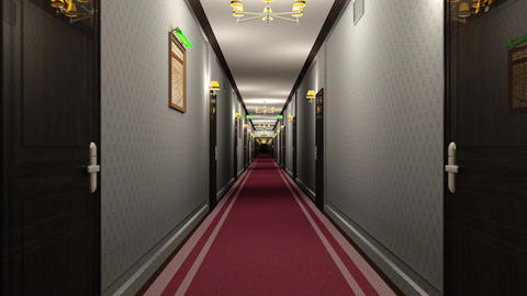 Elegant Hotel Corridor Cinematic Dolly 3D Animation 1 Animation
