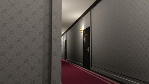 Elegant Hotel Corridor Cinematic Dolly 3D Animation 3 Animation