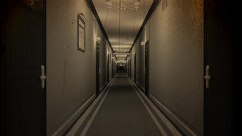 Elegant Hotel Corridor Cinematic Dolly Vintage 3D Animation 1 Animation