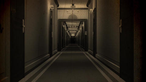 Elegant Hotel Corridor Cinematic Vertigo Effect Vintage 3D Animation 1 Animation