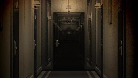 Elegant Hotel Corridor Cinematic Vertigo Effect Vintage 3D Animation 3 Animation