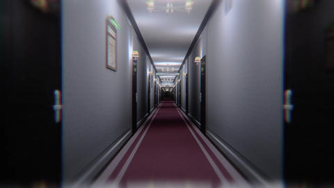 Scary Elegant Hotel Corridor Cinematic Dolly 3D Animation 1 Animation