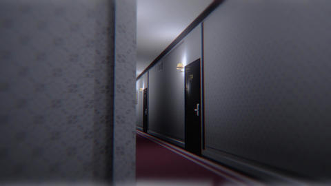 Scary Elegant Hotel Corridor Cinematic Dolly 3D Animation 3 Animation