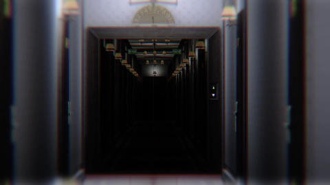 Scary Elegant Hotel Corridor Cinematic Vertigo Effect 3D Animation 4 Animation