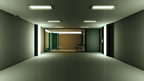 4K High Tech Super Criminal Prison Cell Lockup Scene v1 3 Animation