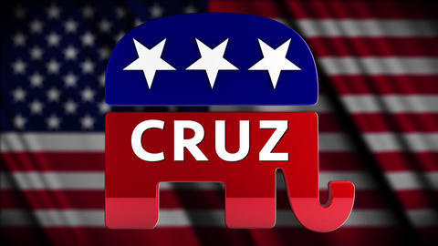 4K USA 2016 Election Republican Candidate Cruz Animation