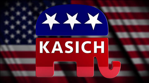 4K USA 2016 Election Republican Candidate Kasich Animation