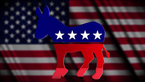 4K USA Election Democratic Party Campaign Element Animation