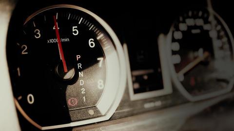 4K Car Engine Test in Parking Mode RPM Meter 1 Footage