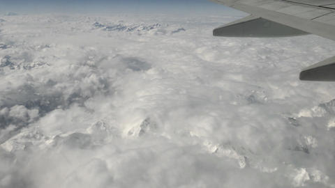 Italian Alps Swiss Mountains Panoramic Aerial View From Sky Airplane Footage