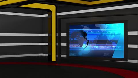 News TV Studio Set 161 - Virtual Background Loop Footage