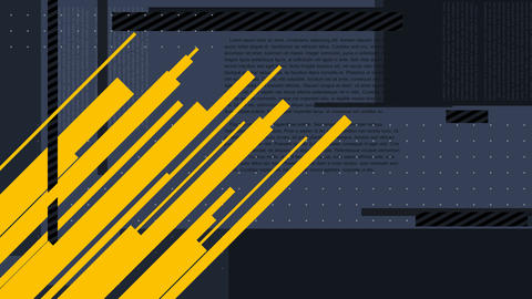 Abstract animation pattern background diagonal yellow and horizontal dark blue l Animation
