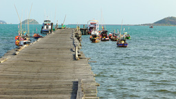Terminal for Fishery Boat at Chonburi East of Thailand-Fishing Footage