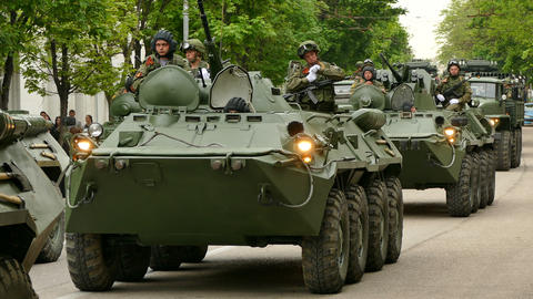 Russian Military Armored Personnel Carriers Live Action
