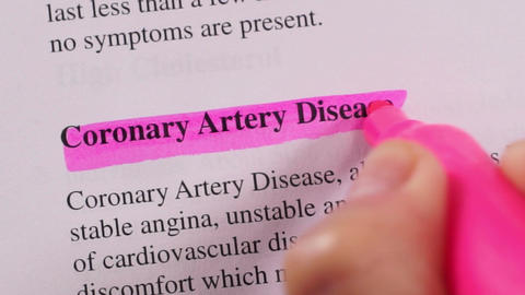 Medical Condition Highlighting Coronary Artery Disease Footage