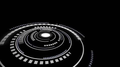 Sci fi style rotating circle user interface design element HUD After Effects Template