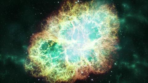 Supernova - Crab Nebula Formation Stock Video Footage