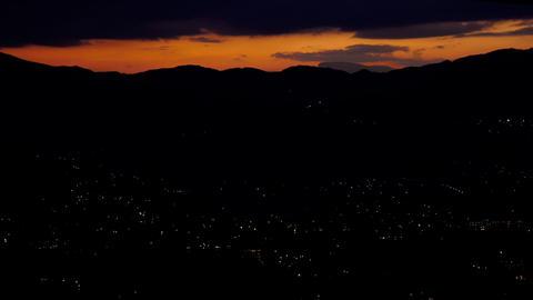 Night sunset 夕景 湯布院 微速度 動画素材 Footage