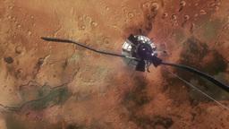 Mars Satellite in Orbit Animation
