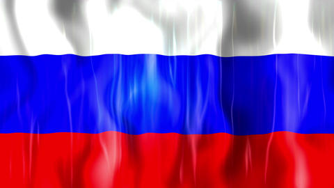 Russia Flag stock footage