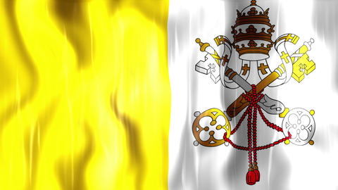 Vatican City State Flag Animation