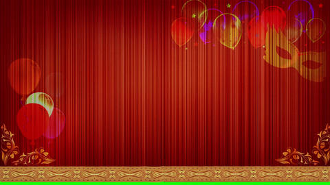 Curtain balloons CG動画素材