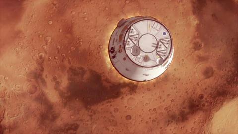Mars Ship landing Animation