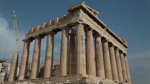 Parthenon - antique temple in Athenian Acropolis in Greece Footage