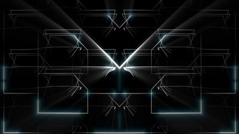 X Figure Silver Shining Cosmic Strings Figure Black Background VJ Loop Footage