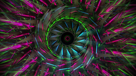 Sonic Eye of Eternal Space Metallic Silver Eye Flashing Lights VJ Loop Footage
