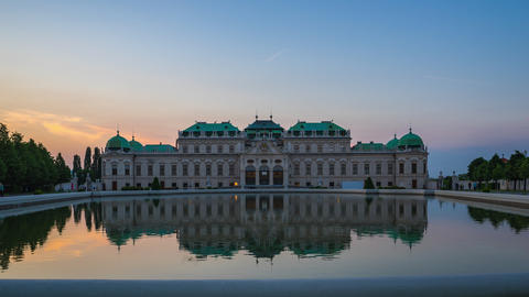 Timelapse of Belvedere Museum in Vienna, Austria time... Stock Video Footage