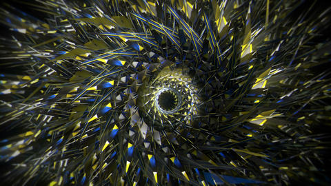 Crystal Silver Cosmic Cirlse Rotating Eye Black Background VJ Loop VJ Loop Footage