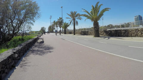 Beachside Bike and Pedestrian Path Footage