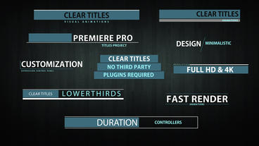 Clear titles animation After Effects Template