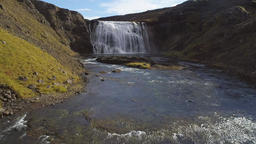 Thorufoss waterfall in Iceland Footage