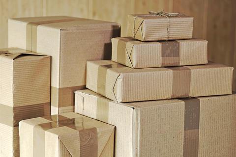 Postal parcels Fotografía