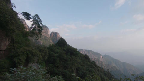 Sanqingshan National Park in Shangrao, Jiangxi Province, China Footage