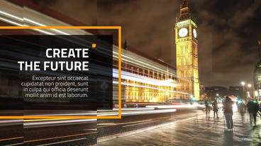 Business Square Presentation After Effects Template