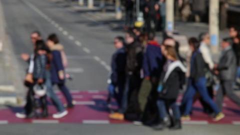 Blurry pedestrians.(11) Footage