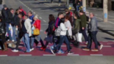 Blurry pedestrians.(09) Footage