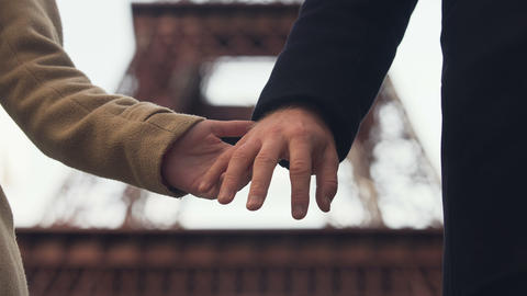 Lovers taking hands away and separating forever, end of relationship, divorce Live Action