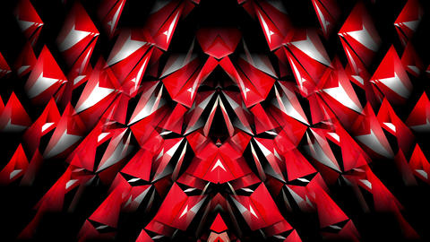 Shining Heartbeat White and Red Rotating Crystal Particles With Sparkling Rays Footage