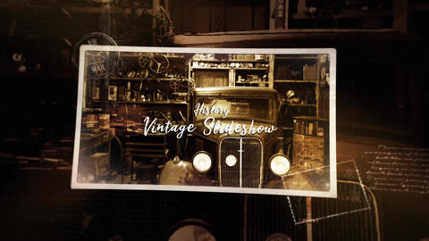 Vintage Gallery Ink Slideshow After Effects Template