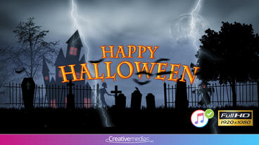 Halloween Intro - Apple Motion and Final Cut Pro X Template Apple Motion Template