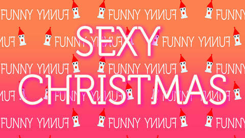funny and sexy animation for the Christmas period Footage