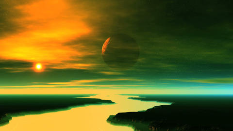 Alien Planet Comes Out of the Shadow GIF