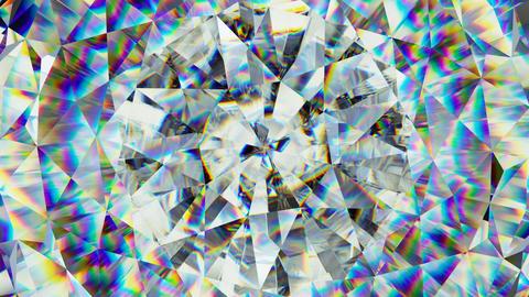 sparkling gemstone macro rotating seamless loop. kaleidoscope GIF