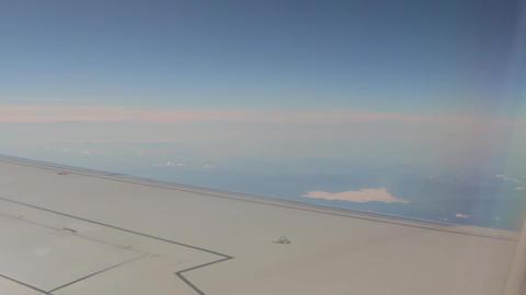 Aircraft Wing And Horizon Footage