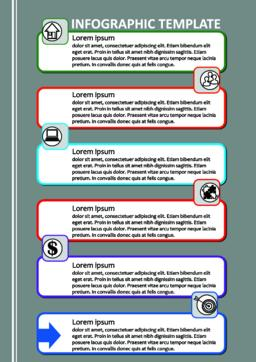 Professional infographic process visualization template, abstract vector with Vector
